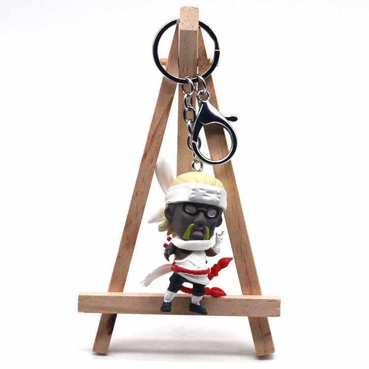 2019 del Nuovo Naruto keychain Acrilico Kakashi Gaara Sasuke Akatsuki Membri Itachi Pendenti con gemme e perle Portachiavi Cosplay circostante regalo Llavero