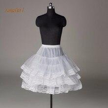 Короткая юбка с кружевной каймой для выпускного бала, свадебное платье для женщин, линия, Свадебный подъюбник кринолин, юпон, Нижняя юбка, HZL-13