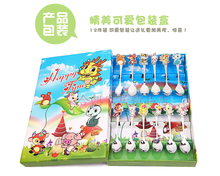 Child cartoon birthday gift baby tableware spoon stainless steel spoon fork 2 piece set gift box set