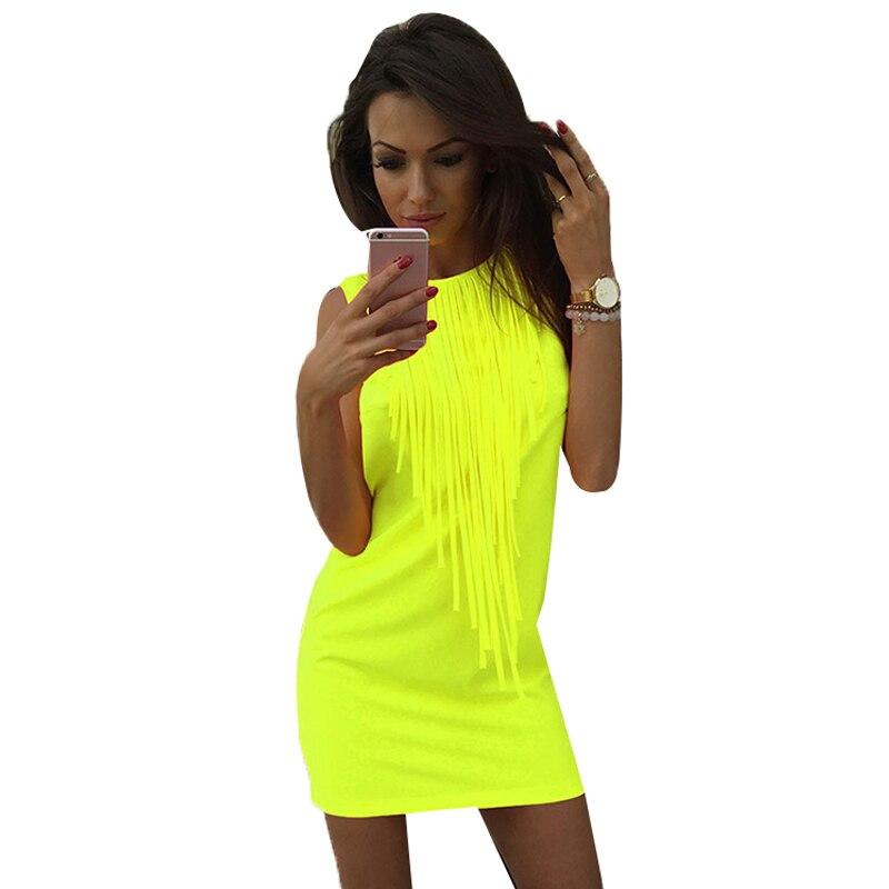 Frauen sexy dress partei quaste sleeveless dress club tragen neue ...