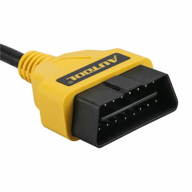 ELM327 OBD2 16Pin câble d'extension 30 cm câble d'extension 16 broches ELM327 OBD II OBD2 câble d'extension connecteur (jaune)