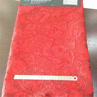 145cm wide red golden floral jacquard fabric for spring and autumn dress jacket clothes DGH05