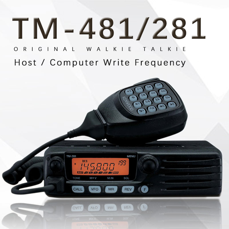 65W Base Radio TM481 OR TM281A 136-174 OR 400-470MHz Over 10KM Mobile Two Way Radio Car Radio Station Walkie Talkie