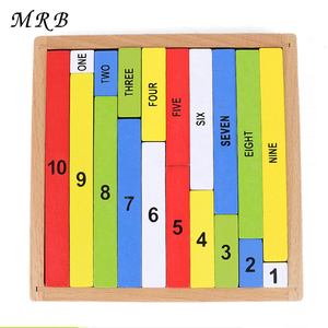 Kids Toy Montessori Education Wooden Toys 1-10 Digit Cognitive Math Toy Teaching Logarithm Version Kid Early Learning Digit Box