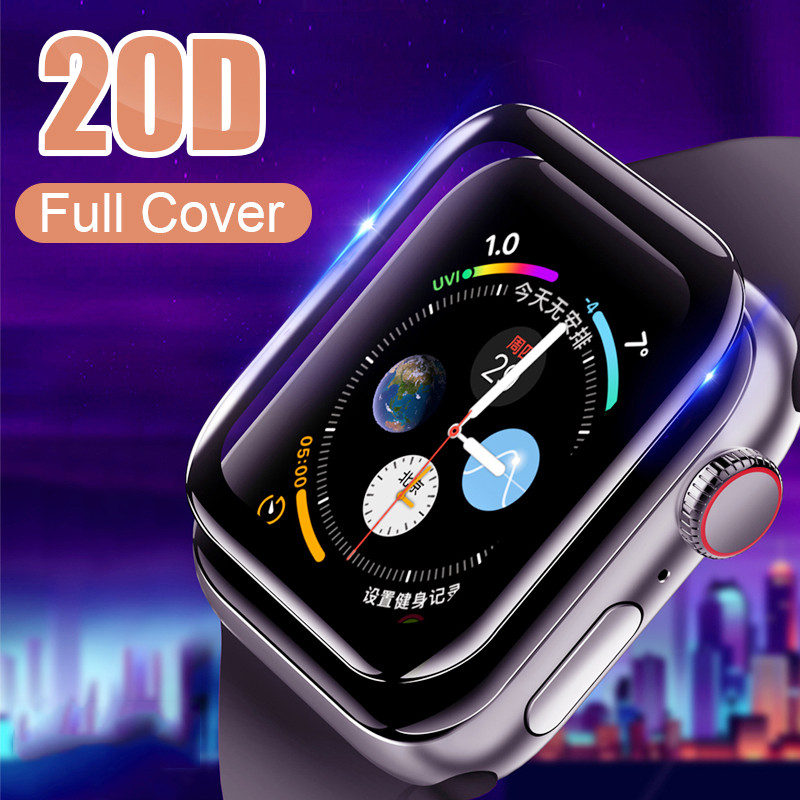 Tempered-Glass 44mm-Protective-Glass-Film Apple Watch Full-Cover 1-2-3-4-Screen-Protector
