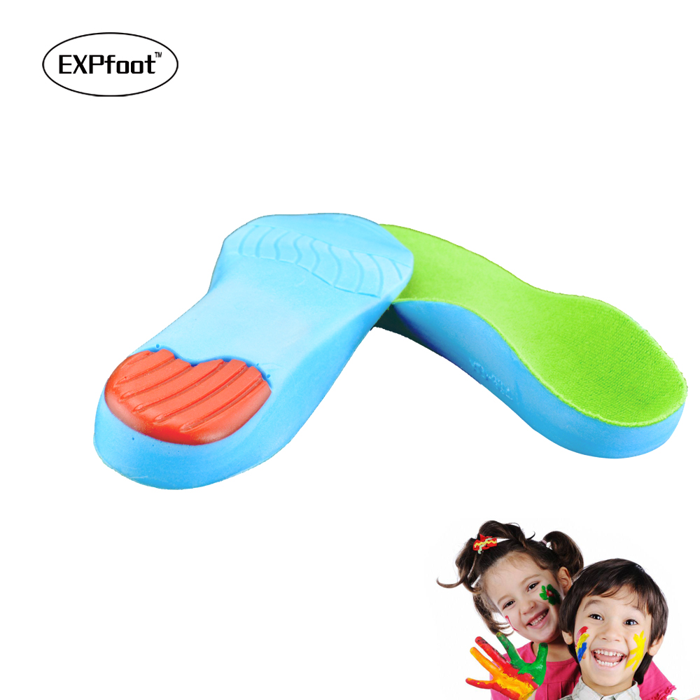 Kids Children Orthopedic Insoles for Children Shoes Flat Foot Arch Support Orthotic Pads Correction Health Feet Care Insole kids children pu orthopedic insoles for children shoes flat foot arch support orthotic pads correction health feet care w046