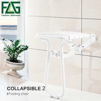 FLG Wall Mounted Shower Seats With Legs WaterProof Relaxation Shower Chair Fold Up Bath Shower Seat G202 28W