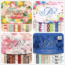 24pcs/Pack 12*12inch Bicycle Flower Die Cut Patterned Paper Pad Pack Scrapbooking DIY Happy Planner Card Making Journal Project