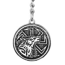 1pc Slavic Kolovrat Wolf Pendant Keychain Trinket Viking Talisman Teen Wolf Best Friend Jewelry(China)