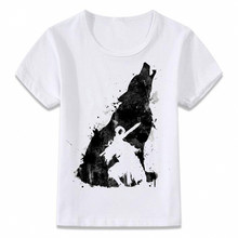 Kids Clothes T Shirt Dark Souls Sif The Great Wolf T-shirt Boys and Girls Toddler Tee(China)