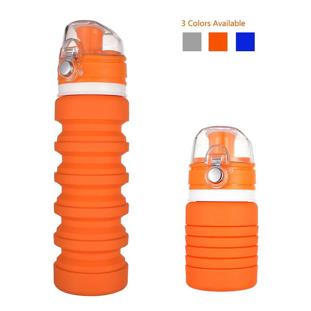 Portable Collapsible Water Bottle Silicone Folding Drink Bottle for Sports Travel Hiking Camping Cycling Climbing MYDING