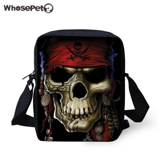 Whosepet 18 Patterns Boys Messenger Bags 3dexquisite Skeleton Printing Flap Shoulder Bag For Kids Fashion Casual