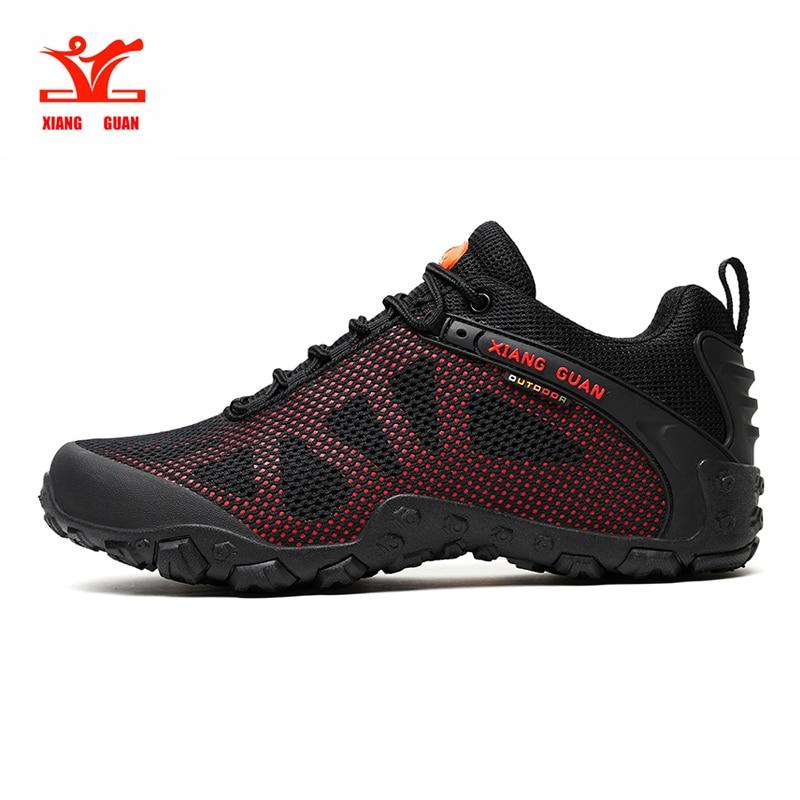 Xiangguan hiking shoes for men breathable mesh unisex shoes outdoor sports shoes men slip resistant wear