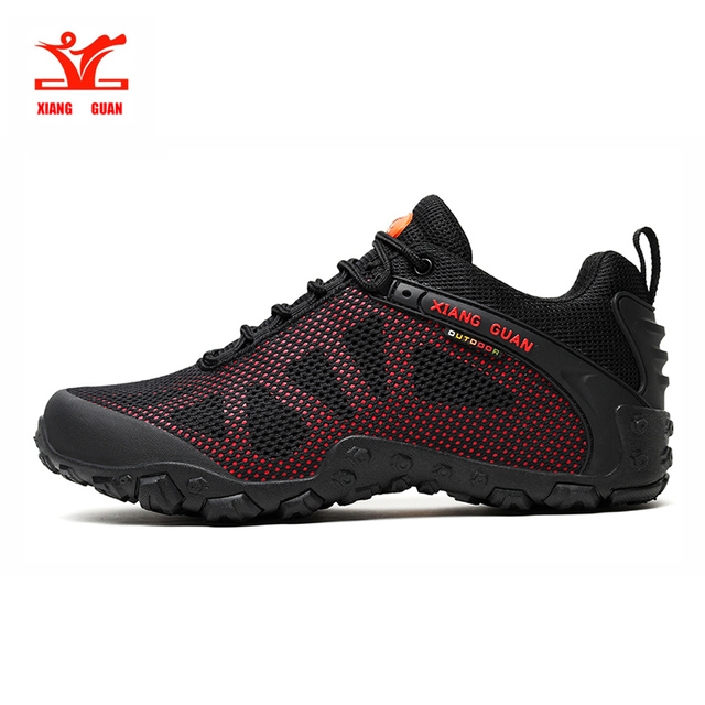 Xiangguan hiking shoes for men breathable mesh unisex shoes outdoor sports shoes men slip resistant wear couple shoes