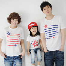 children summer tshirt tops fashion family Look decoration couples clothes Kids girls T shirt mommy and