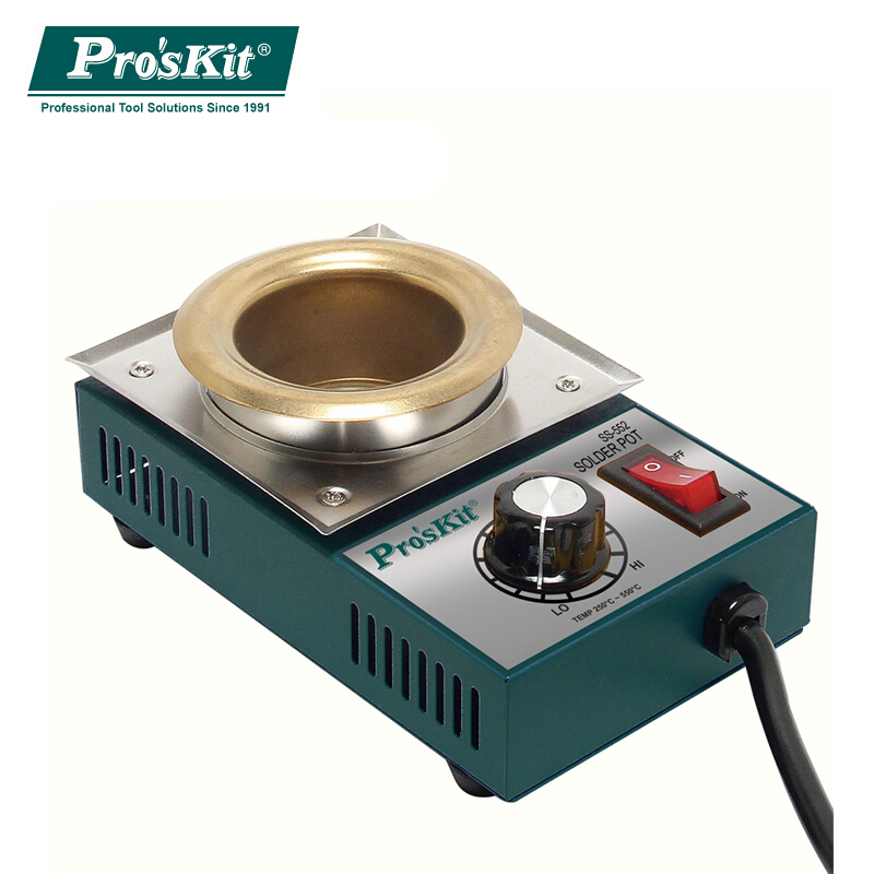 Brand Pro'skit SS-552H High Quality 200W Temperature Controlled Soldering Pot 0.5kg Melting flux Tin Pot Tin Cans Free Shipping samsung rs 552 nruasl