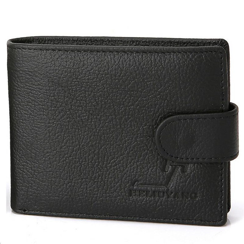 BARHEE Genuine Leather Wallets for Men Short Purse Cowhide Small Bifold Male Card Holder Carteira Wallet sac portefeuille homme