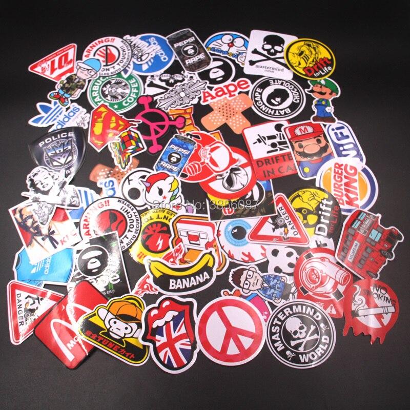 60 Stücke Gemischt Lustige Marke Diy Sexy Aufkleber Für Wohnkultur Laptop Aufkleber Aufkleber Kühlschrank Skateboard Doodle Auto Motorrad Fahrrad