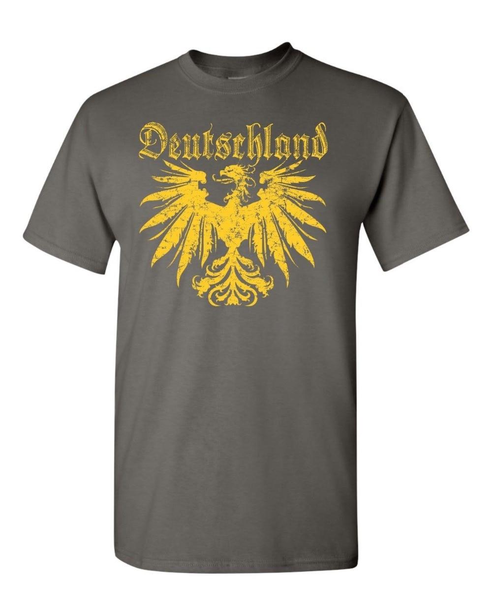 Deutschland German Eagle Germany Golden Eagle New 2019 Fashion 100% Cotton for Man Shirts Christian T Shirt Футболка