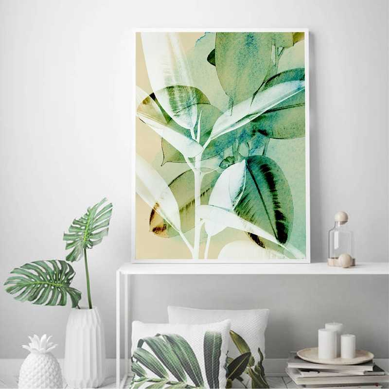 Plant Abstract Tropical Wall Art Canvas