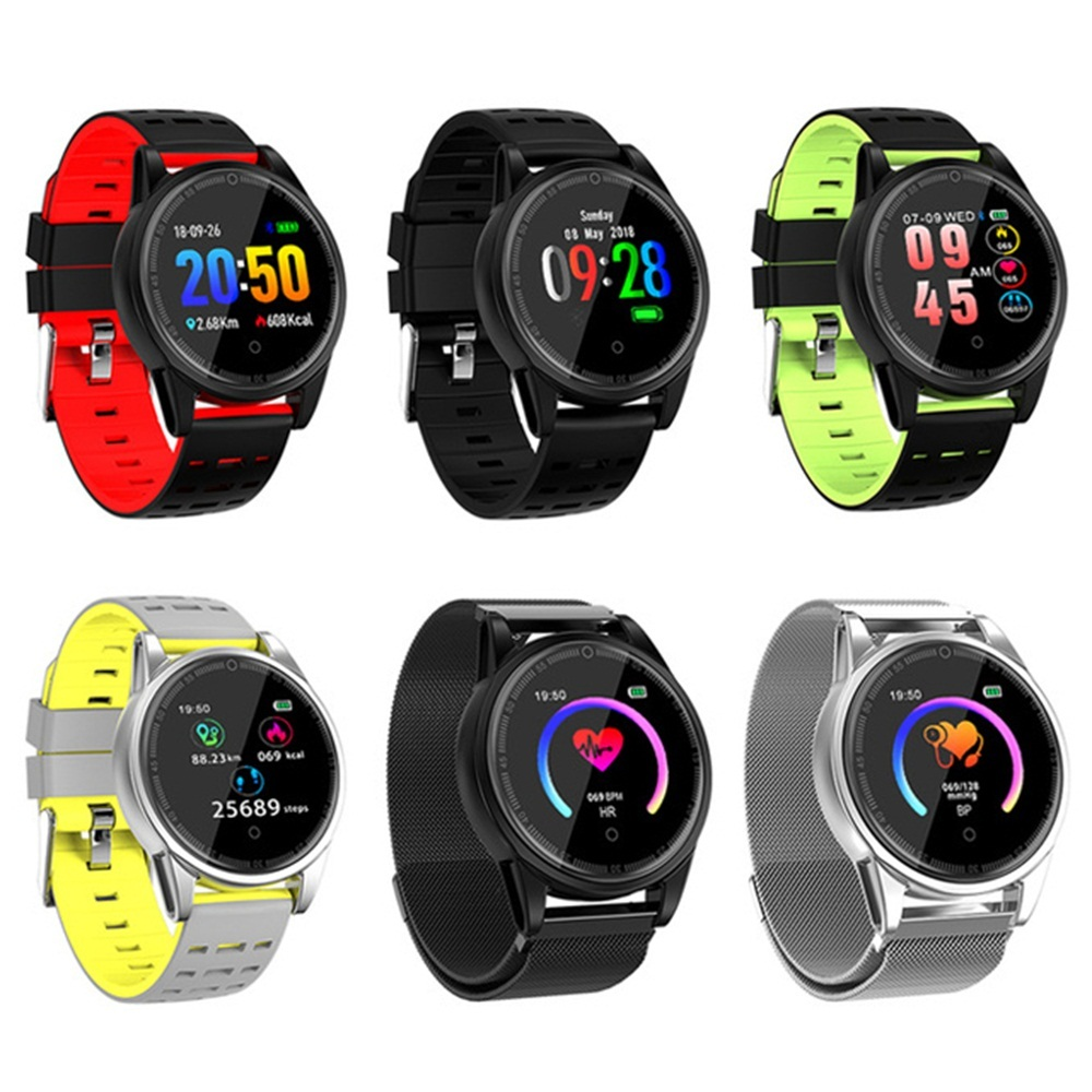 R13 Pro Sports Color Screen Large Screen Heart Rate Monitor Wireless Smart Bracelet Band Tempered Glass Metal Case Smart Watch in Smart Watches from Consumer Electronics
