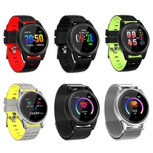 R13 Pro Sports Color Screen Large Heart Rate Monitor Wireless Smart Bracelet Band Tempered Glass Metal Case Watch