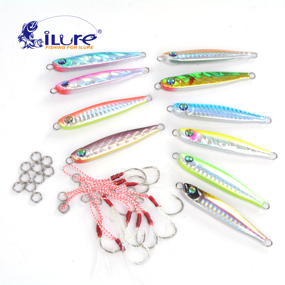 iLure Bait Boat <font><b>Fishing</b></font> Jig Super <font><b>Fishing</b></font> Lures 33g 5/10 Pieces Sequin knife jigging lure wobbler Hard Bait mastering set