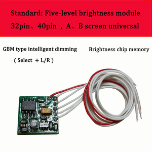 Image 1 - Replacement For GBA Backlight + Five level Brightness Module 32/40 pin Cable High lighting Aurora Backlight Kits For GBA Console