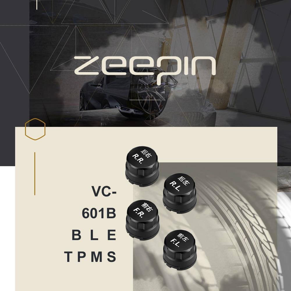 Zeepin автомобиль TPMS Датчик давления в шинах системы Bluetooth низкой энергии IP67 4 внешних Датчики утечки воздуха состояние сигнализации Универсал...
