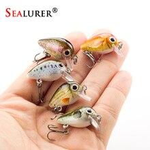 SEALURER 5PCS/Lot 1.8g 3cm Topwater 0.1-0.5m Wobbler Japan Mini Crankbait 5Baits with Plastic Box Fly Fishing Lure Crazy Wobbler
