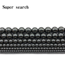 Natural Stone Hematite Beads Round Loose black Beads 3mm 4mm 6mm 8mm 10mm 12mm DIY Necklace Bracelet Jewelry Making Accessories(China)
