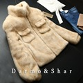 Woman's Genuine Leather Coat Mink Short Section Mandarin Collar Full Pelt Double-Faced Fur  GSJ063