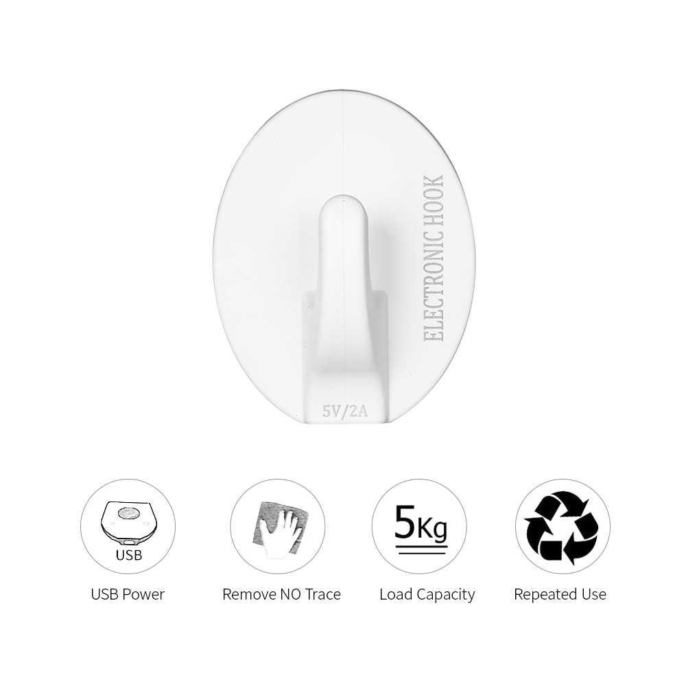 USB elétrica Cola Quente Gancho 5 KG Pendurado Porta Gancho Cabides De Parede Mop Toalha Titular Da Bolsa Ganchos Para Cozinha Casa de Banho acessórios