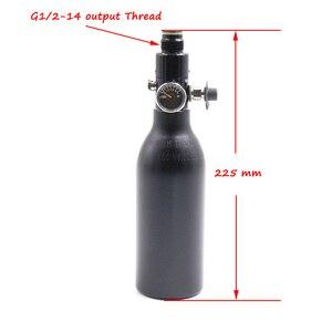 Image 2 - QUPB PCP Paintball High Pressure Cylinder 0.2L 4500PSI HPA Aluminium Air Tank w/ Regulator 5/8 18UNF 60MM Diameter TKU020