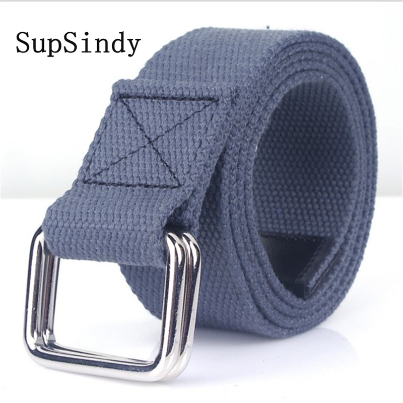 SupSindy Fashion Casual men   belt   Double ring buckle Colorful Canvas waist   belt   luxury designer Jeans for women   belts   Top quality