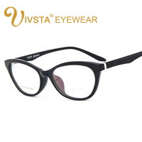 IVSTA 2016 New Fashion TR90 Glasses Women Cat Eye Glass Light Smooth Face Cats Eyewear Degree