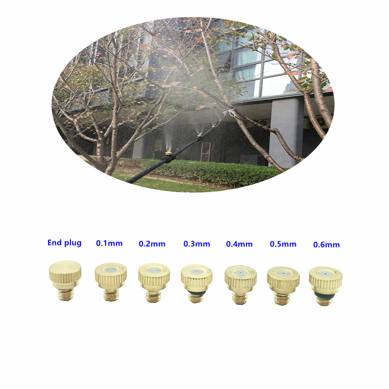 Sprayers Expressive A124 10pcs/lots Brass Water Mist Nozzle 0.1mm Orifice 10/24 Fog Nozzle Copper Misting Nozzle Drip Irrigation Product For Garden To Win A High Admiration Watering & Irrigation