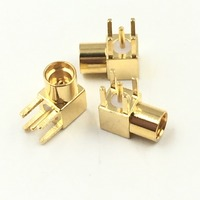 Hot Factory Direct Wholesale 5pcs Connector MMCX female jack 90 degrees angle solder PCB mount right angle 2.5mm