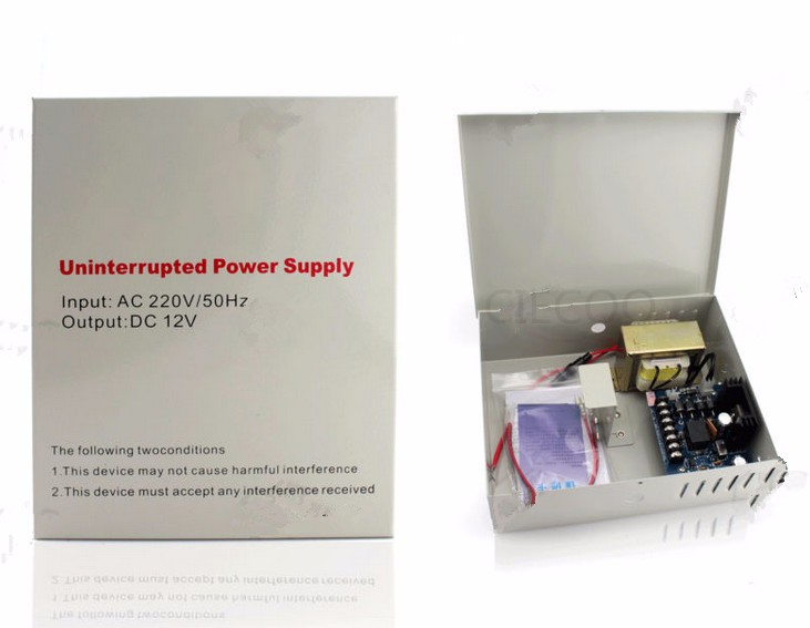 110V AC input 12V 5A supply power for Access Control UPS Power Supply backup battery
