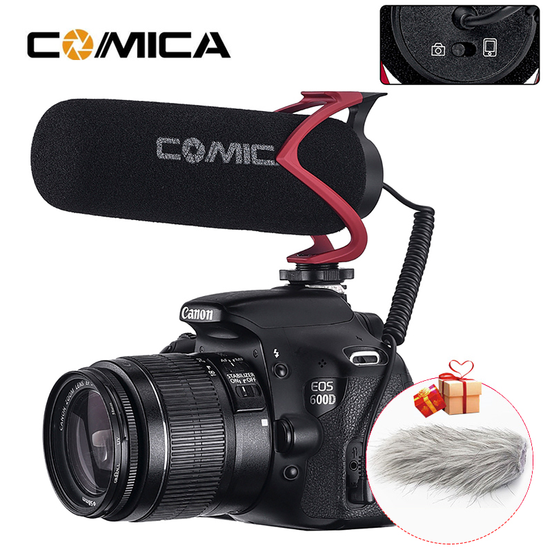 Comica V30 Lite Video Recording Mic On Camera Vlog Phone Microphone for Canon Nikon Sony DSLR Camcorder iPhone 7 8 X Samsung 8 9