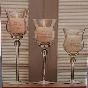 3 pçs/lote Cálice Castiçal De Vidro Suporte De Vela Do Casamento Mariage Dos Namorados Festa De Natal Em Casa Decoração de Mesa