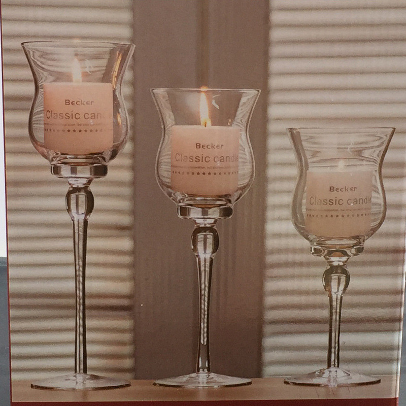 3pcs lot Goblet Glass Candlestick Wedding Candle Holder Mariage Valentines Christmas Home Party Table Decoration