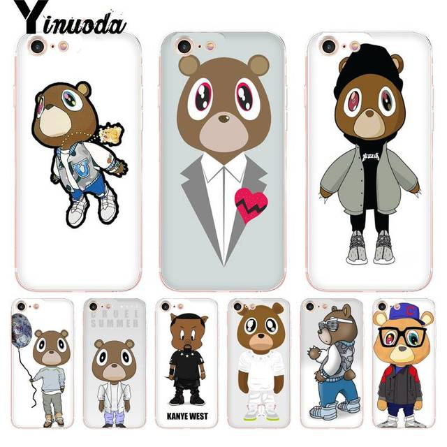 b1439237d8b11e Yinuoda For iphone 7 6 X Case Kanye West Bear Yeezus Transparent Phone  Cover Case for iPhone 8 7 6 6S Plus X 10 5 5S SE 5C XS XR