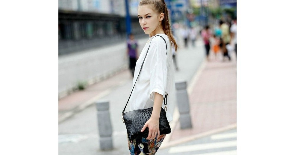 Crocodile Genuine Leather Bag Fashion Elegant Women Handbag Shoulder Bag Messenger Bag Day Clutch 2014 Designer Bolsas Femininas 3