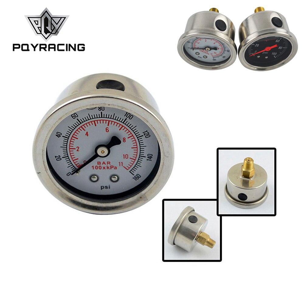 PQY - Fuel Pressure Gauge Liquid 0-100 psi / 0-160psi Oil Pressure Gauge Fuel Gauge Black/white Face PQY-OG33(China)