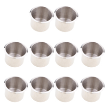 10 Pack 68x55mm Stainless Steel Recessed Cup Drink Holder For Marine Boat RV Camper Vehicle