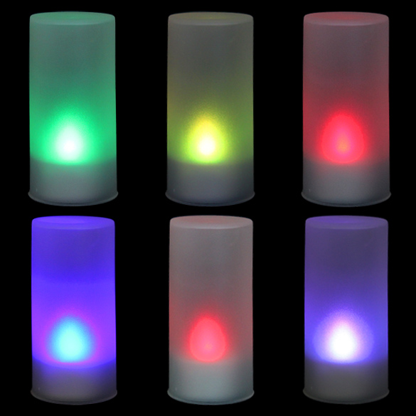 New LED Electronic Color Change Flicker Candle Light For Home Decor Christmas Party HB88