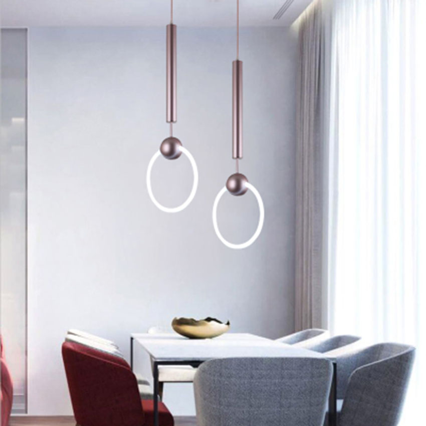 Post-modern Nordic Light Led Circle Pendant Lights Dining Room Bedroom Corridor Lighting Pendant Lamp Kitchen Fixtures Luminaire