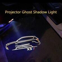 2 шт. для BMW X3 G01 F25 E83(2005-) Автомобильный светодиодный Двери предупреждающий световой прожектор проектор Ghost Shadow светильник Добро пожаловать светильник