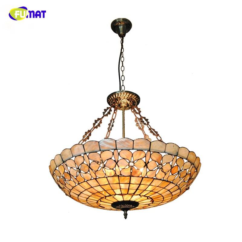 Retro Indoor Lighting Vintage Pendant Light Led Lights 24: FUMAT European Living Room Led Light Lamp Shell Lustre